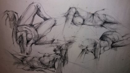 Figures - charcoal drawing