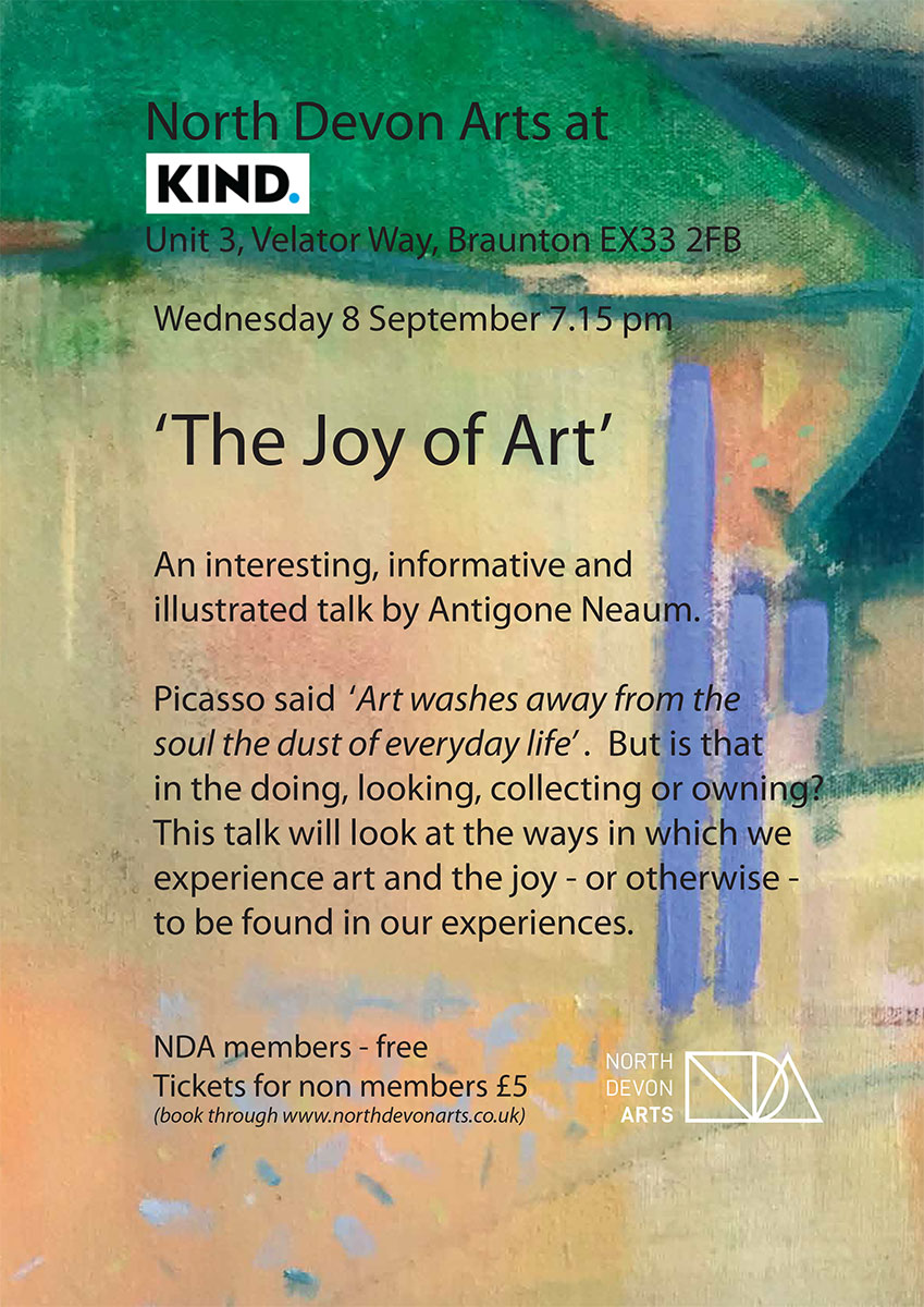 The Joy of Art poster.
